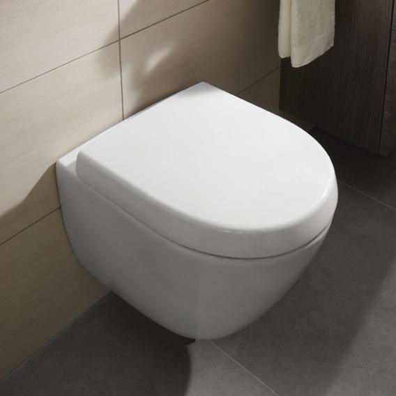 Villeroy & Boch Subway 2.0 Compact WC-Sitz, abnehmbar weiß, mit Absenkautomatik