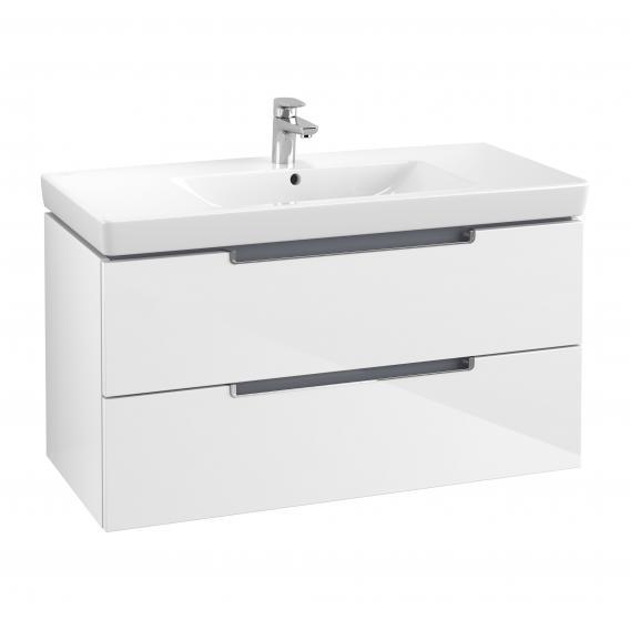 Villeroy & Boch Subway 2.0 Waschtisch mit Waschtischunterschrank und My View 14 Spiegelschrank