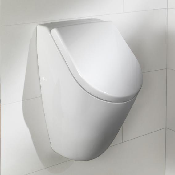 Villeroy & Boch Subway Urinal, Zulauf hinten für Deckel, weiß mit CeramicPlus