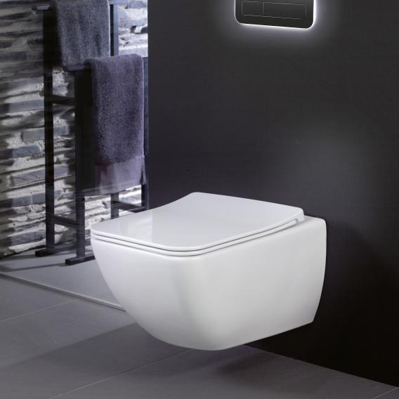 Villeroy & Boch Venticello Combi-Pack Wand-Tiefspül-WC, offener Spülrand, mit WC-Sitz weiß, mit CeramicPlus