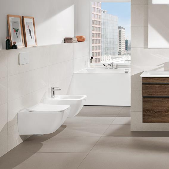 Villeroy & Boch Venticello Wand-Tiefspül-WC, offener Spülrand weiß, mit CeramicPlus