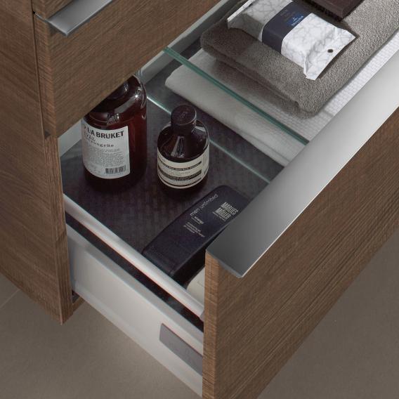 Villeroy & Boch Venticello Doppel-Waschtischunterschrank XXL mit 4 Auszügen Front glossy white / Korpus glossy white, Griff chrom
