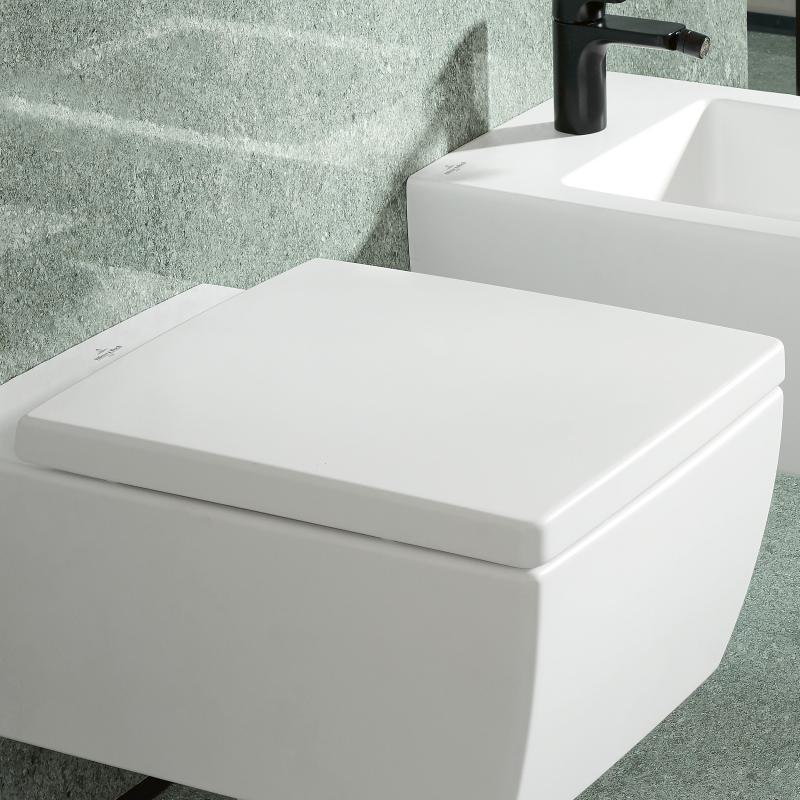 Villeroy & Boch Memento 2.0 WC-Sitz, abnehmbar, mit ...