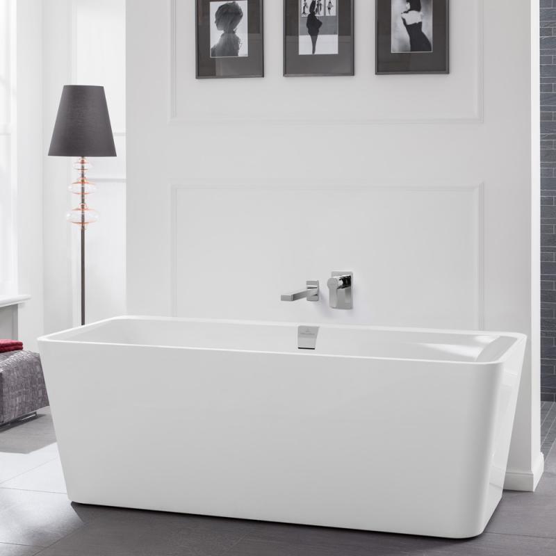 Villeroy Boch Squaro Excellence Duo Freistehende Badewanne Weiß