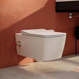 VitrA Aquacare Metropole Wand-Tiefspül-WC-Set mit Bidetfunktion, mit WC-Sitz mit integrierte Thermostat-Armatur