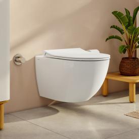 VitrA Aquacare Sento Wand-Tiefspül-WC-Set mit Bidetfunktion, mit WC-Sitz ohne integrierte Armatur