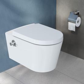 VitrA Options Nest Wand-Tiefspül-WC mit Bidetfunktion ohne Spülrand, weiß, mit VitrAclean, mit integrierter Thermostat-Armatur