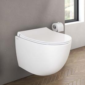 VitrA Sento Wand-Tiefspül-WC Compact VitrAFlush 2.0, mit WC-Sitz