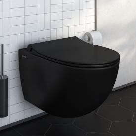 VitrA Sento Wand-Tiefspül-WC ohne Spülrand, schwarz matt, mit VitrAclean