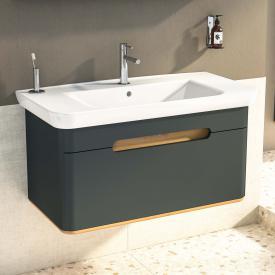 VitrA Sento Waschtisch mit Waschtischunterschrank mit 1 Auszug Front anthrazit matt / Korpus anthrazit matt/eiche