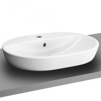 VitrA Metropole Aufsatzwaschtisch, oval weiß, mit Überlauf