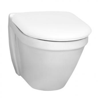 VitrA S50 Wand-WC compact L: 48 B: 35,5 cm weiß mit VitrAclean