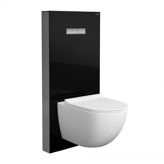 VitrA Sento Wand-Tiefspül-WC ohne Spülrand, mit Stand-Spülkasten weiß/schwarz, mit VitrAclean und VitrAhygiene
