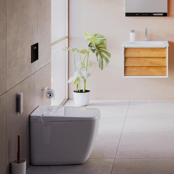 VitrA V-Care Prime Stand-Dusch-WC, mit WC-Sitz