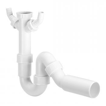 Viega Röhrengeruchverschluss mit 2 Abwasserschlauchanschlüssen