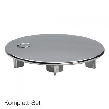 Viega Tempoplex Komplett Set, hohe Leistung f. Duschwannen m. Ø90 mm Ablauf, m. Fertigset chrom