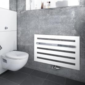 Zehnder Metropolitan Bar Badheizkörper für Warmwasserbetrieb weiß, 447 Watt, Montage unter Fenster