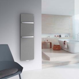 Zehnder Vitalo Bar Badheizkörper mit EasyFit Anschlussbox für Warmwasserbetrieb grau aluminium, 546 Watt