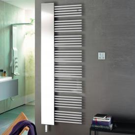 Zehnder Yucca Mirror Badheizkörper mit Spiegel für rein elektrischen Betrieb weiß, 600 Watt, rechts