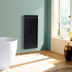 Zehnder Zenia Wärmekomfortgerät für Aufputz, rein elektrisch schwarz, Anschlag rechts