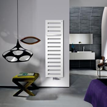 Zehnder Metropolitan Bar Badheizkörper für Warmwasserbetrieb weiß, 730 Watt, normale Ausführung