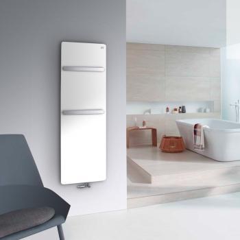 Zehnder Vitalo Bar Badheizkörper für Warmwasserbetrieb weiß matt, 676 Watt