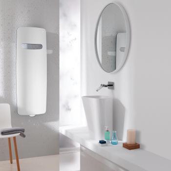 Zehnder Vitalo Spa Badheizkörper mit EasyFit Anschlussbox für Warmwasserbetrieb weiß, 483 Watt