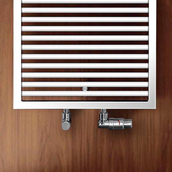 Zehnder Universal Badheizkörper für Warmwasser- oder Mischbetrieb weiß, einlagig, 890 Watt