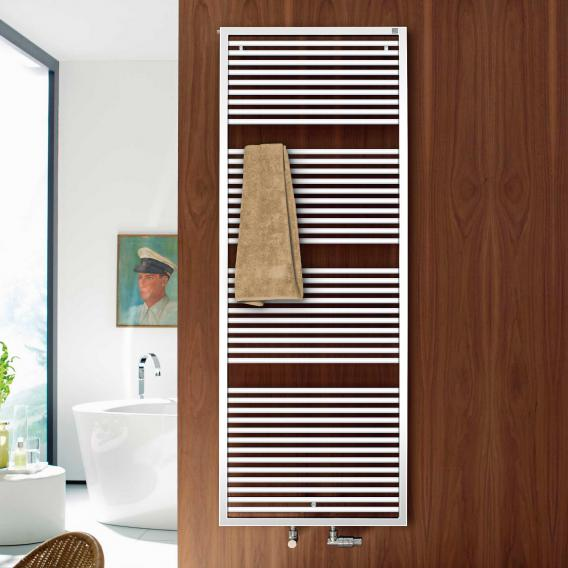 Zehnder Universal Badheizkörper für Warmwasser- oder Mischbetrieb weiß, einlagig, 1355 Watt