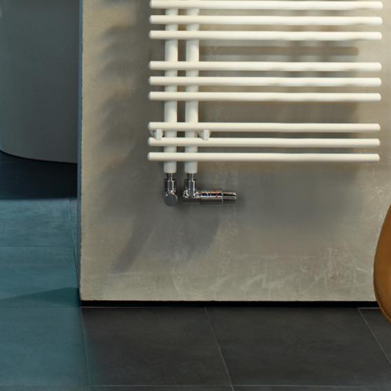 Zehnder Yucca Asym Badheizkörper für Warmwasser- oder Mischbetrieb weiß, einlagig, 795 Watt