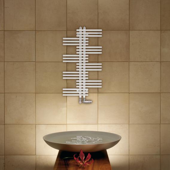 Zehnder Yucca Badheizkörper für Warmwasser- oder Mischbetrieb weiß, einlagig, 321 Watt